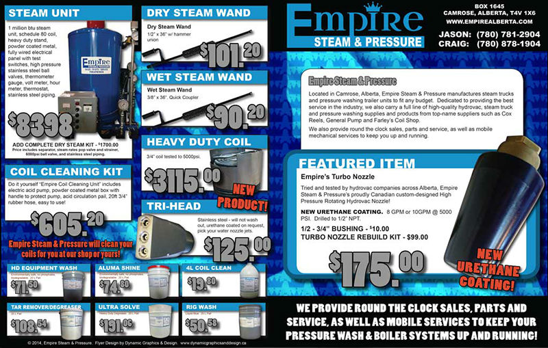 Camrose alberta graphic design dynamic graphics and design camrose alberta graphic print design empire steam pressure sales flyer solutioingenieria Choice Image